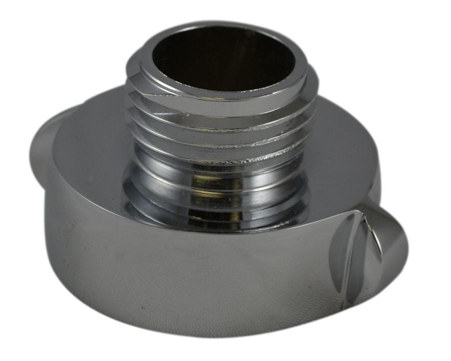 A37, 1 Customer Thread Female X 1.5 Customer Thread Male Adapter Brass Chrome Plated, Rockerlug Tested to 500 psi