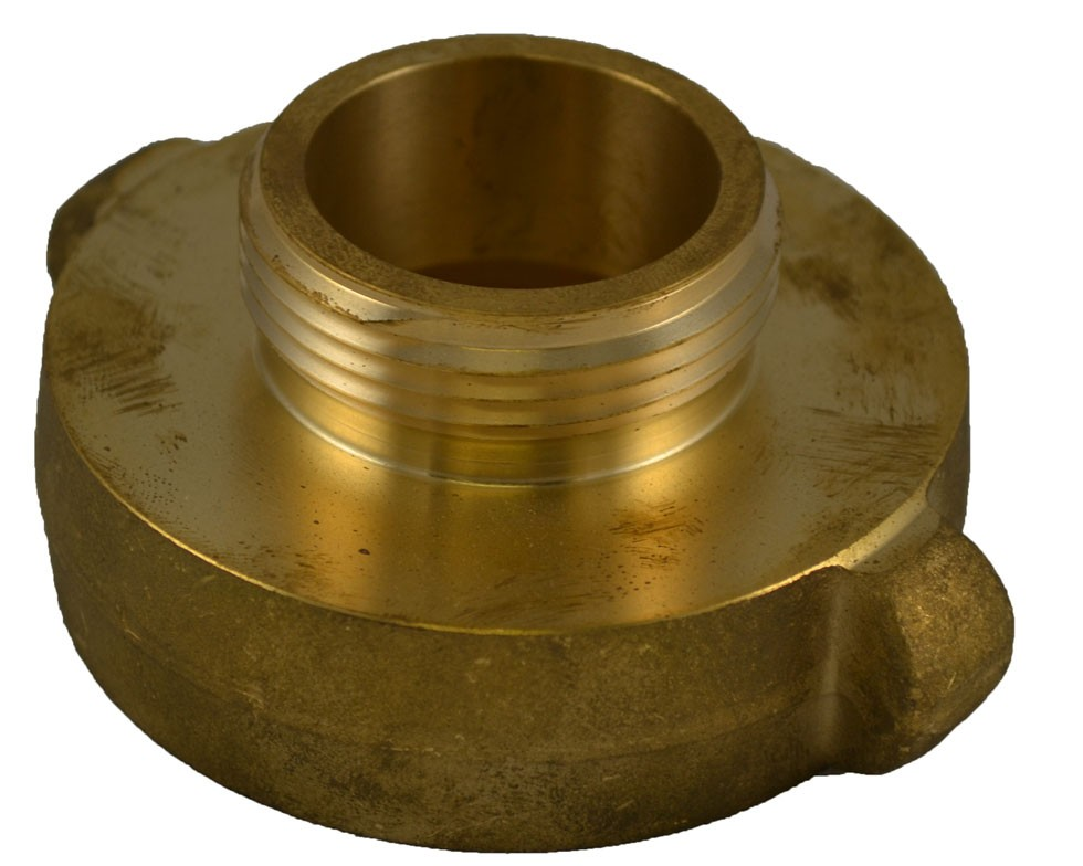 A37, 1 Customer Thread Female X 1.5 Customer Thread Male Adapter Brass, Rockerlug Tested to 500 psi