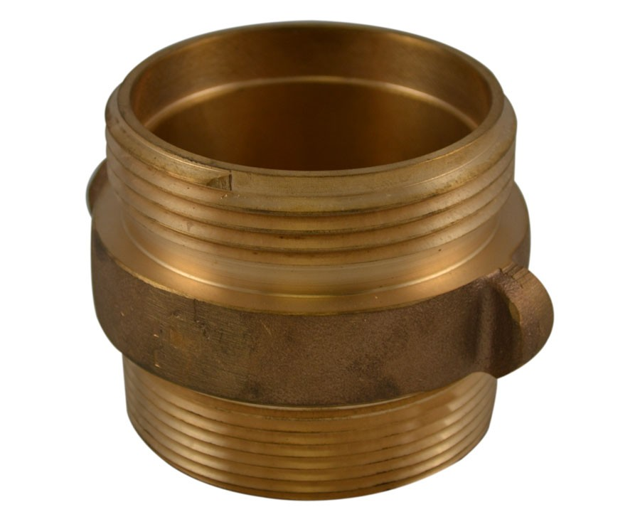 DMA38, 1.5 Customer Thread X 1.5 Customer Thread Double Male Adapter Brass