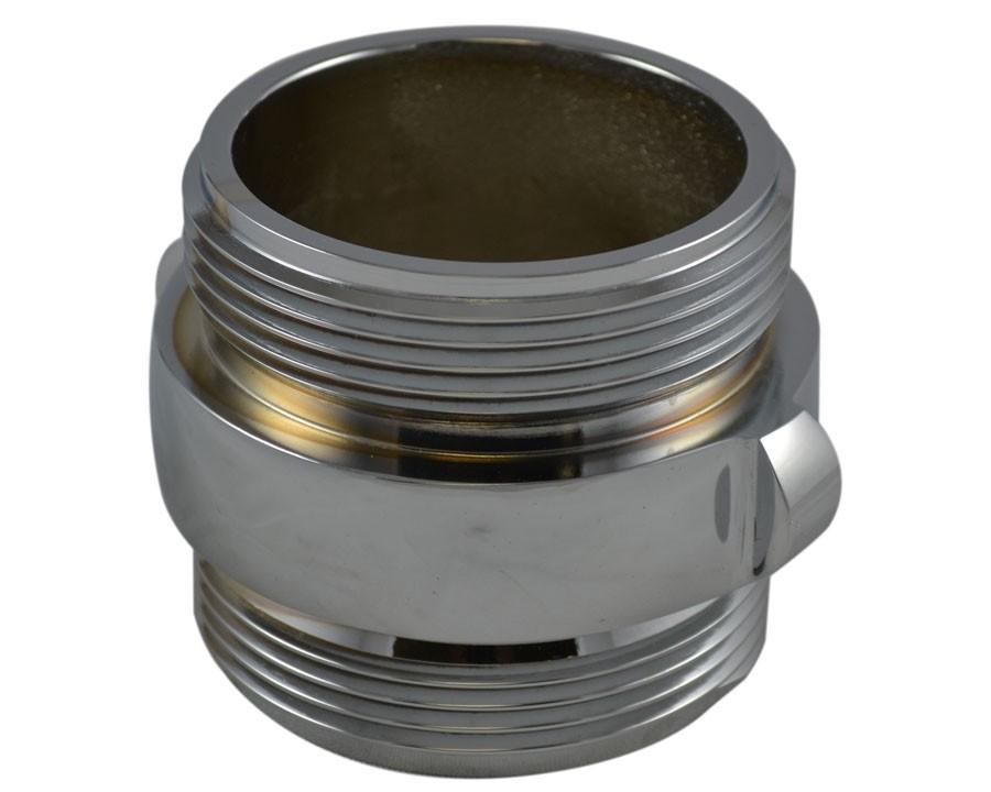 DMA38, 1.5 Customer Thread X 1.5 Customer Thread Double Male Adapter Brass Chrome Plated