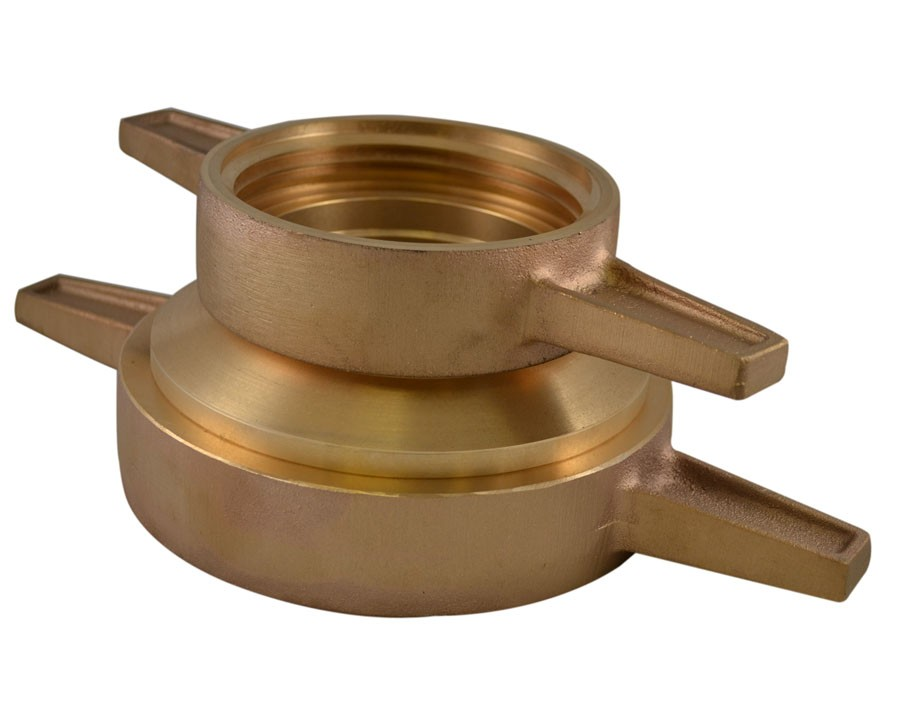 DSHC42, 2.5 National Standard Thread (NST)T Female X 2.5 National Standard Thread (NST)T Female Hydrant Connection Brass