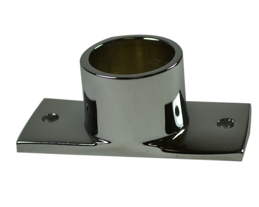 HBP64, Handrail Baseplate Brass Chrome Plated