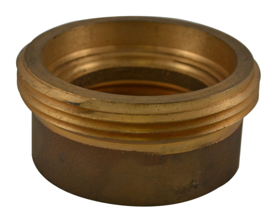 HCB71, 2.5 Customer Thread Female X 2.5 Customer Thread Male Hydrant Conversion Bushing Brass, Rockerlug