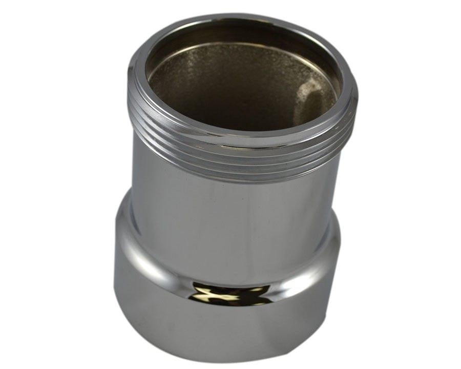 IL35, 2.5 National Pipe Thread Female X 2.5 National Standard Thread (NST)T M 4   Brass Chrome Plated, Internal Lug Bushing