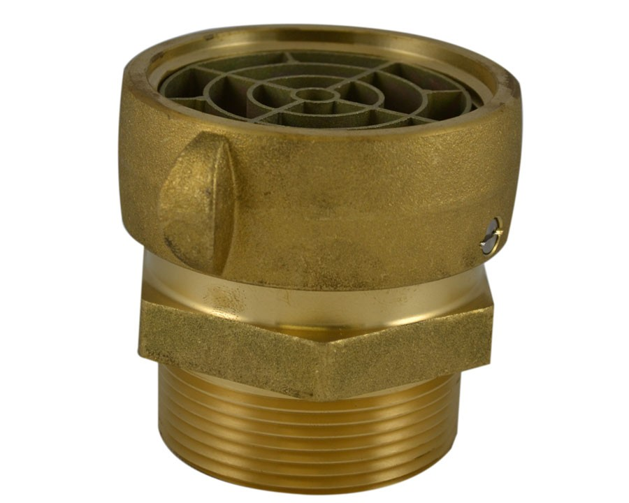 SA39S, 2.5 NST Female Swivel X 2 National Pipe Thread (NPT) Male W/SCRN Brass,