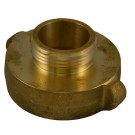 A37, 2.5 National Standard (NST) Female X 1 National Pipe Thread (NPT) Male  Adapter Brass, Rockerlug Tested to 500 psi