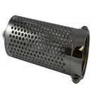 BS45, 2.5 Customer Thread Female Barrel Strainer Brass Chrome Plated