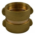 DF44, 2.5 National Standard Thread (NST) X 1.5 National Standard Thread (NST) Double Female Adapter Brass