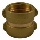DF44, 2.5 Customer Thread X 1.5 Customer Thread Double Female Adapter Brass